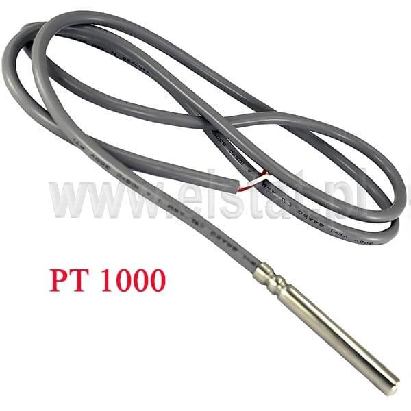 Super Czujnik temperatury PT1000; przewód 1,5m; wymiary sondy 6x50mm EY37